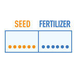 seed fertilizer seperation