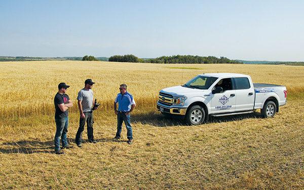 Atom-Jet's Manitoba and Ontario Territory Manager Jason McKerchar visits Jobel Farms in Minnedosa, Manitoba