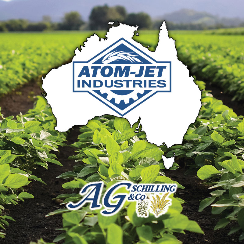 Atom-Jet Australia (logo), in partnership with AG Shilling & Co. (logo)