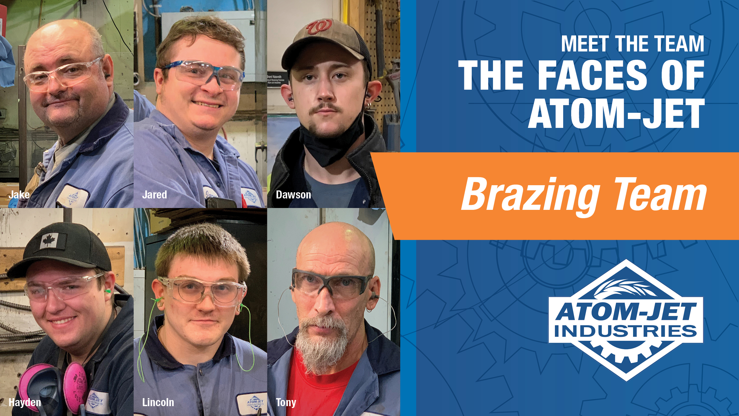 The Brazing Team at Atom-Jet Industries