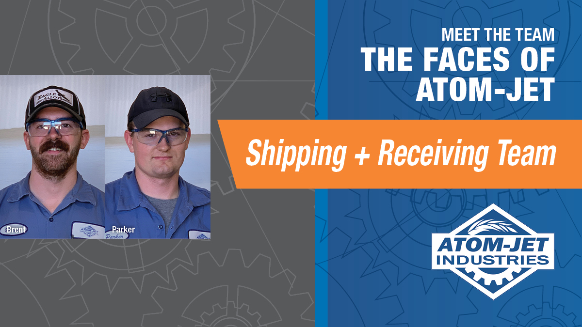 The Shipping + Receiving Team at Atom-Jet Industries