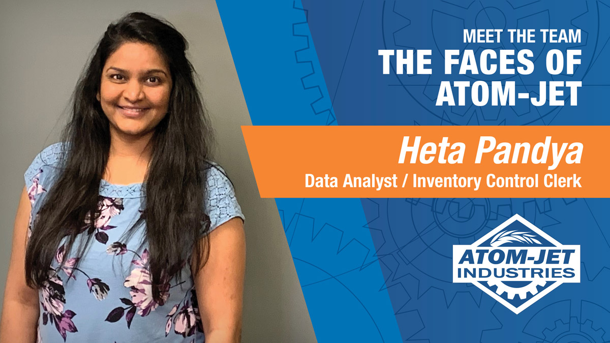 Atom-Jet Team Member, Heta Pandya, Senior R&D Coordinator